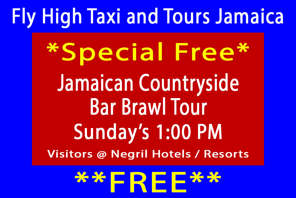 Jamaican Countryside Bar Crawl Tour Free Special - Fly High Taxi and Tours Jamaica - www.FlyHighTaxiAndToursJamaica.com - www.FlyHighTaxiAndToursJamaica.net